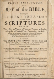 Book Cover: Clavis Bibliorum:  The Key of the Bible