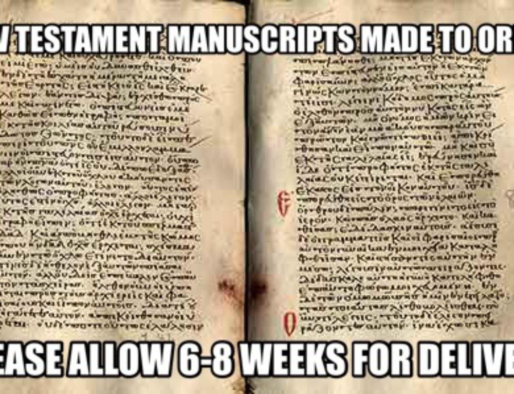 NT Manuscripts Made to Order (Erasmus and I Jn5.7)