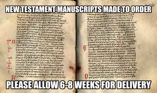 NT Manuscripts Made to Order (Erasmus and I Jn5.7)