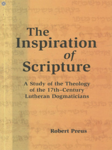 Book Cover: The Inspiration of Scripture