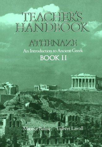 Book Cover: Athenaze 2 Teacher's Handbook