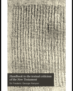 Book Cover: Handbook to the Textual Criticism of the NT