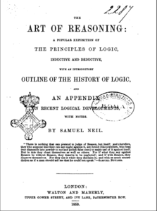 Book Cover: The Art of Reasoning a Popular Exposition of the Principles of Logic