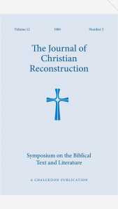 Book Cover: JCR v12n02 Symposium on the Biblical Text