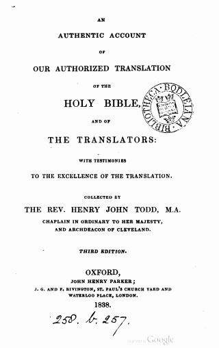 Book Cover: An Authentic Account of our Authorized Translation of the Holy Bible