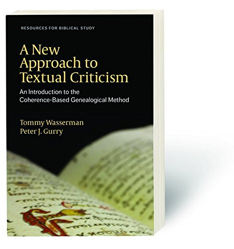 Book Cover: A New Approach to Textual Criticism. An Introduction to the CBGM