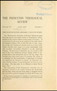 Book Cover: The Westminster Assembly and its Work