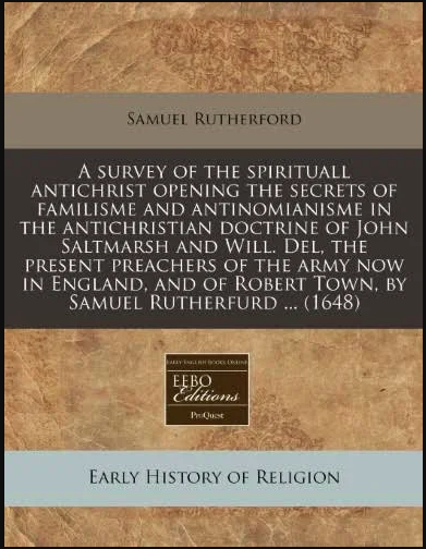 Book Cover: A Survey of the Spirituall Antichrist