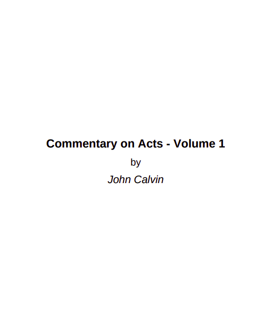 Book Cover: Commentary on Acts 7: 14-16
