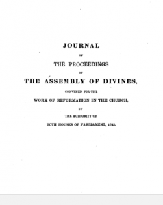 Book Cover: The Journal of the Proceedings of the Assembly of Divines