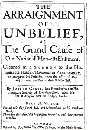 Book Cover: The Arraignment of Unbelief