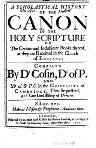 Book Cover: A Scholastical History of the Canon