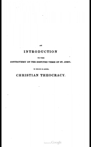 Book Cover: An Introduction to the Controversy on the Disputed Verse of St. John