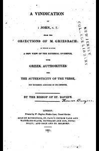 Book Cover: A Vindication of 1 John, v. 7