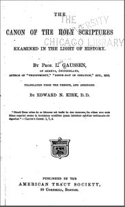Book Cover: The Canon of Holy Scripture
