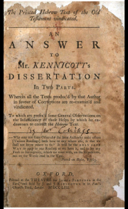 Book Cover: The printed Hebrew text of the OT vindicated