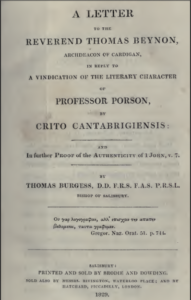 Book Cover: In Further Proof of the Authenticity of 1 Jn 5v7