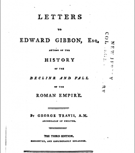 Book Cover: Letters to Edward Gibbon by George Travis