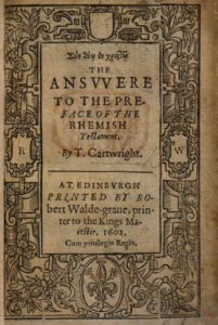 Book Cover: The Answer to the preface of the Rhemish Testament