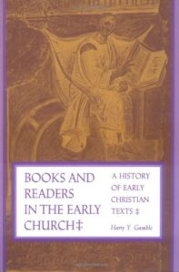 Book Cover: Books & Readers in the Early Church
