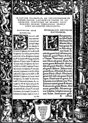 Book Cover: Erasmus' 1516 Greek New Testament