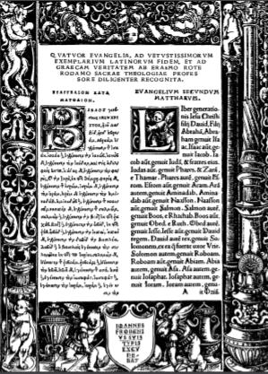 Book Cover: Erasmus' 1516 Greek New Testament