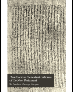 Book Cover: Handbook to the Textual Criticism of the New Testament
