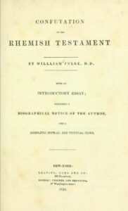 Book Cover: Confutation of the Rhemist Testament