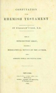 Book Cover: Confutation of the Rhemist Testament
